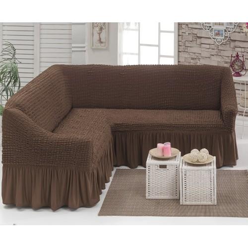 Чехол на угловой диван коричневый-500×500